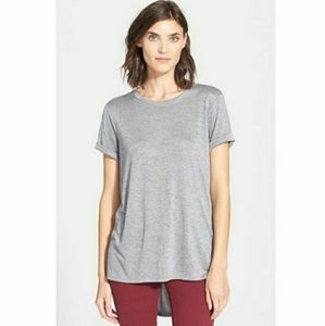 Vince Gray Rolled Sorry Sleeve Shirt